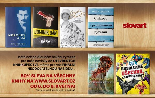 50 % na knihy v češtině