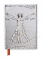 Zápisník Da Vinci: Vitruvian Man (Foiled Journal)