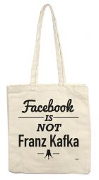 teNeues Tote Bag: Facebook is not Kafka (bazar)
